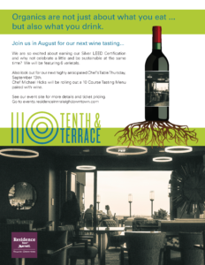 August 2018 Organic Wine Tasting at 10th & Terrace in Downtown Raleigh