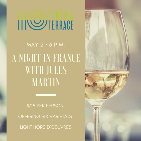 A Night in France with Jules Martin on May 2nd
