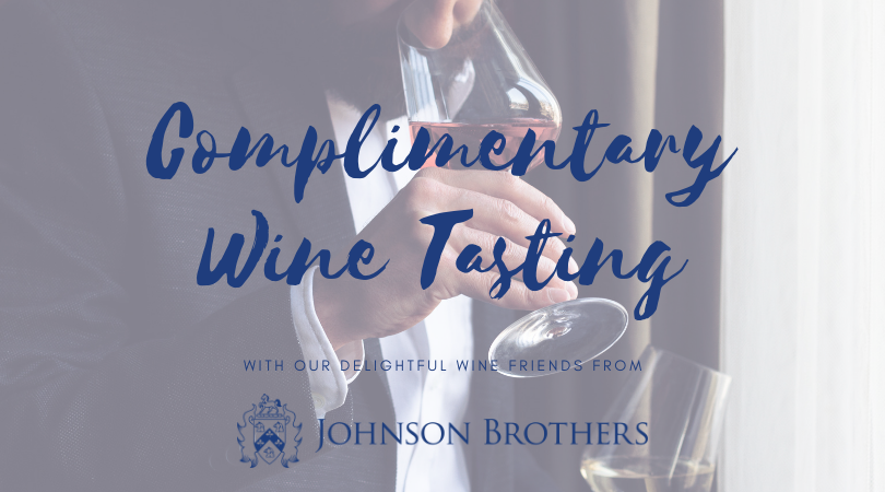 Please join us on Thursday, July 24, for a tasting of featured wines on our menu from our friends at Johnson Brothers! This is a complimentary event from 6 p.m. until 8 p.m.