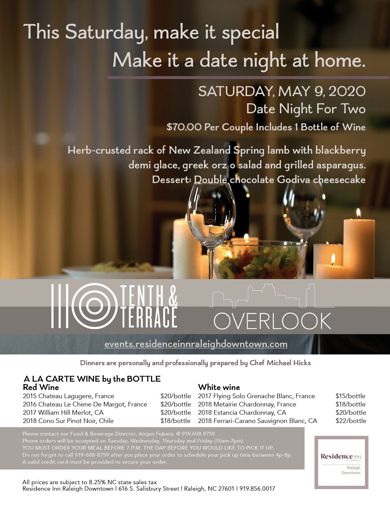 SATURDAY, MAY 9: Date Night for Two