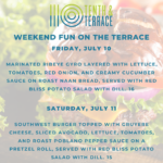 10th and Terrace July 10 Specials