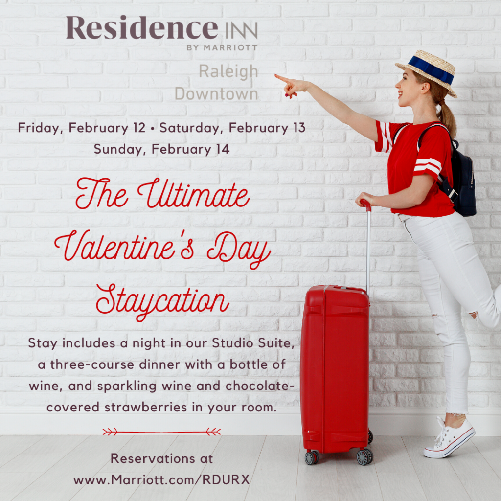 Join Us for the Ultimate Valentine's Day Staycation at Residence Inn Raleigh Downtown